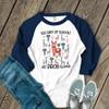 Teacher 100 days no prob-llama unisex adult raglan shirt