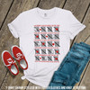 Valentine teacher 100th day tally mark zebra Tshirt
