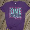 Teacher 100 days glitter or foil pink flamingo flock DARK Tshirt