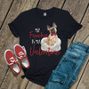 My Frenchie is my Valentine DARK Tshirt
