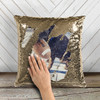 Pet dog or cat photo personalized decorative sequin pillowcase pillow
