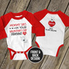 First valentines day from baby to daddy i'm your valentines day present bodysuit