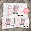 Zebra girl personalized pillowcase / pillow