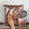 Best friends bff family siblings photo custom reversible sequin pillowcase pillow