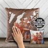 Best friends bff family siblings photo custom reversible sequin pillowcase pillow