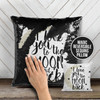 I love you to the moon and back decorative sequin pillowcase pillow