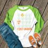 St. Patricks Day teacher I love my first graders or any grade glitter or foil shamrock adult raglan shirt