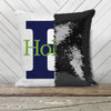 Monogram initial and name personalized decorative sequin pillowcase pillow
