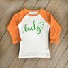 Lucky St. Patrick's Day childrens raglan shirt