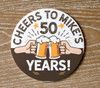 Birthday cheers custom round pulpboard coasters