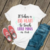 Teacher big heart to teach little minds Tshirt
