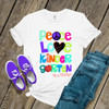 Teacher colorful peace love kindergarten or any grade personalized Tshirt