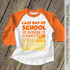 Last day of school summer sun raglan shirt