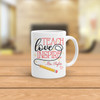 Teach love inspire personalized coffee mug