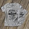 Mommy shark baby shark doo not mess with matching shirt gift set