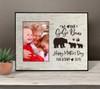 We heart our gigi bear photo frame gift from grandkids