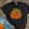 Fall pumpkin vine monogram sparkly glitter adult DARK shirt