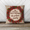 Merry Christmas berry wreath personalized pillowcase pillow