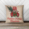 Vintage family Christmas personalized pillowcase pillow