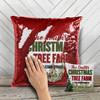 Christmas tree farm decorative sequin pillowcase pillow