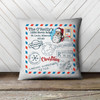 Holiday stamp return address personalized pillowcase pillow