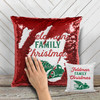 Family retro green Christmas truck personalized sequin pillowcase pillow
