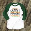 Halloween teacher cutest li'l pumpkins personalized unisex ADULT raglan shirt