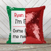 Elf on the shelf I'm back personalized decorative sequin pillowcase pillow