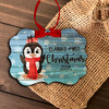 First Christmas penguin girl personalized ornament