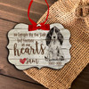 Forever in our hearts dog personalized memorial Christmas ornament