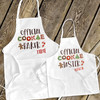 Official cookie baker and cookie taster holiday adult  youth apron set