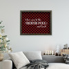 I love you to the North Pole and back red buffalo plaid canvas print sign with optional frame