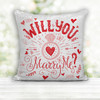 Wedding proposal will you marry me sequin pillowcase pillow