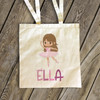 Dance bag ballerina/dance personalized tote bag