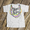 Mardi Gras beads bodysuit or Tshirt