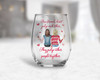Galentine's Day true friends don't judge stemless red or white wine glass