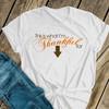 Thanksgiving maternity shirt thankful custom womens non-maternity or maternity Tshirt