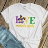 Love Mardi Gras fleur de lis Tshirt