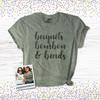 Mardi Gras beignets bourbon & beads DARK Tshirt