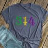 Mardi Gras area code fleur de lis personalized DARK Tshirt