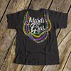 Mardi Gras beads kids DARK Tshirt