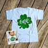 First Birthday St. Patrick's Day sparkly one shamrock bodysuit or Tshirt
