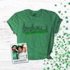 St. Patrick's Day Chicago River green glitter Tshirt