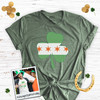 Irish Chicago flag shamrock adult unisex DARK Tshirt