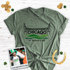St. Patrick's Day dye the Chicago River green adult unisex Tshirt