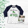 St. Patrick's Day this little lassie big sister pregnancy announcement raglan shirt
