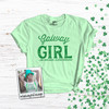 St. Patrick's Day Galway girl or Chicago shamrock glitter option adult Tshirt