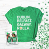 St. Patrick's Day Rolla Missouri S &T shamrock glitter option adult unisex DARK Tshirt