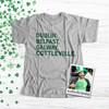 St. Patrick's Day Cottleville shamrock glitter option adult unisex Tshirt