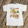 Birthday dinosaur geometric dino any age boy or girl personalized Tshirt